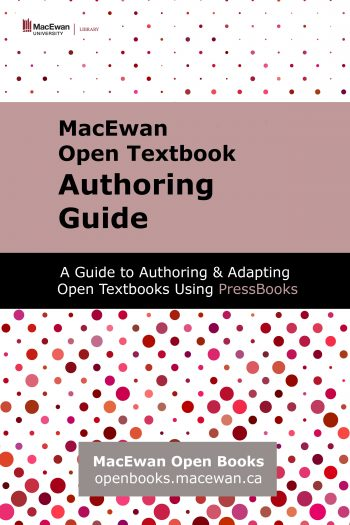 Cover image for MacEwan Open Textbook Authoring Guide